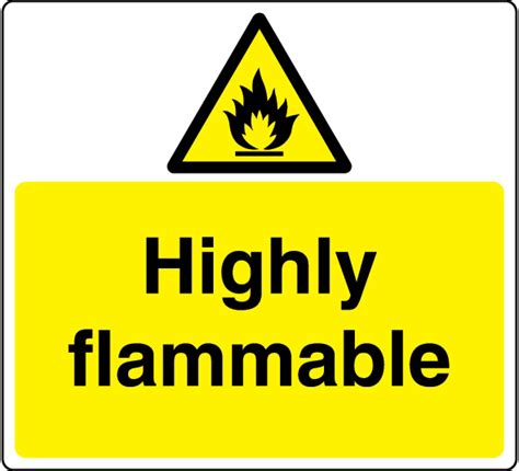 Highly Flammable Sign 4   Legal Signs UK