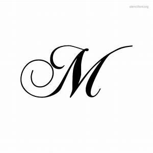 letter+m+script+bold+fonts | Script Stencil Font | Stencil ...