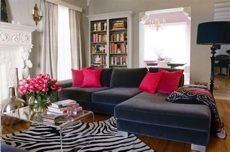 Blue Velvet Sofa  Contemporary  Living Room  Kishani Perera
