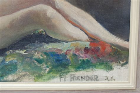 Vintage Swedish Nude Oil Painting By Helge Frender C For Sale At Stdibs