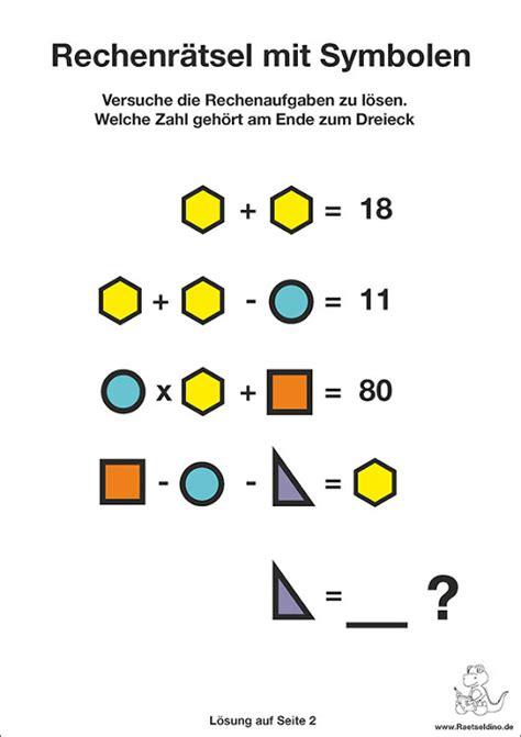 Rechen Rätsel by Rechenr 228 Tsel Mit Symbolen Leicht R 228 Tsel Rechenr 228 Tsel