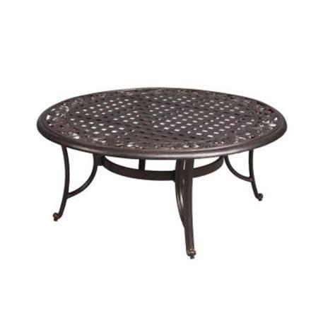 round patio coffee table hton bay edington 42 in round patio coffee table 131