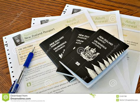 new zealand passports and passport applications with pen