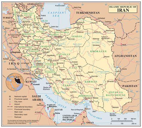 maps  iran detailed map  iran  english tourist