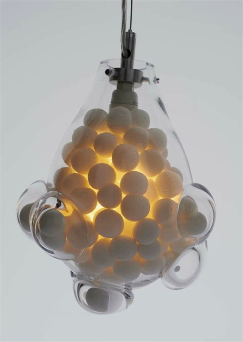 weirdlooking lamp made of glass and bone china � close up