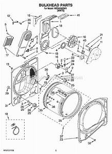 Whirlpool Wed6200sw1 Parts List And Diagram
