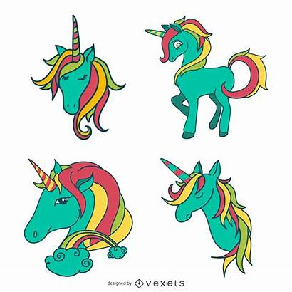 Unicorn Doodles Vexels Cartoon Ai Icon Icons