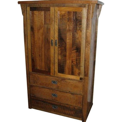 Wood Armoire Closet by Barn Wood Armoire Stand Alone Closet