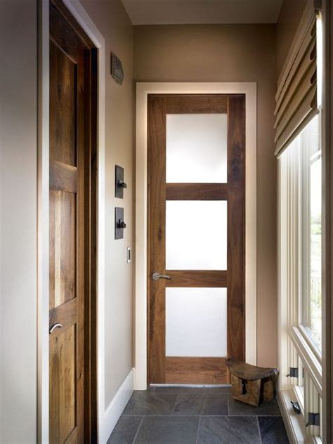 interior wood door  frosted glass panel