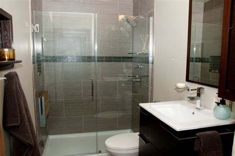 Contemporary Small Bathroom Renovation Contemporary