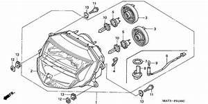 Headlight For 1997 Honda Cbr1100xx Cbr1100xx  Super