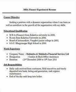 Mba Resume Format For Freshers Pdf 45 Fresher Resume Templates Pdf Doc Free Premium