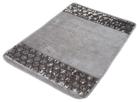 modern bathroom rugs and towels sinatra silver bath rug with sequins 21 quot x 32