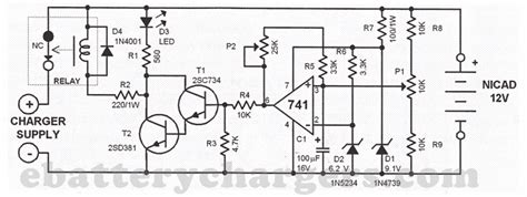 Automatic Nicd Battery Charger Circuit