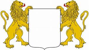 File:Heraldic supporters lions rampant.svg - Wikimedia Commons