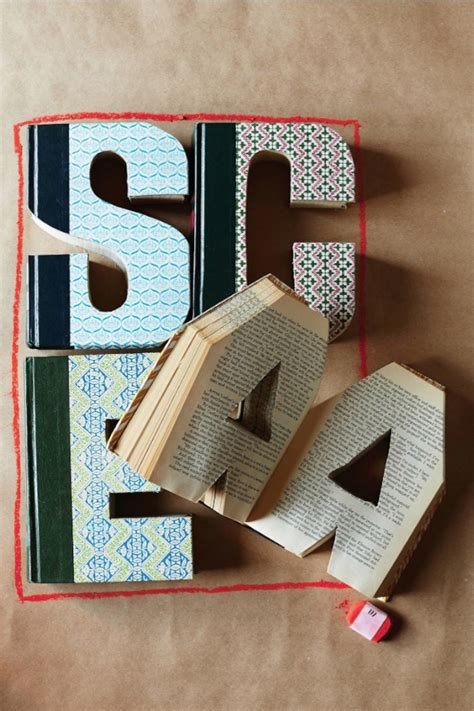 library letter hand carved vintage book letters holycoolnet