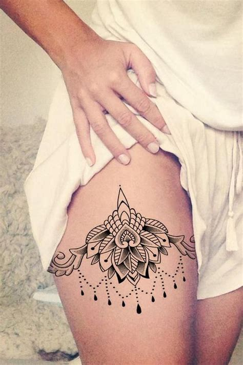 ceylon lace lotus chandelier temporary tattoo tatoos