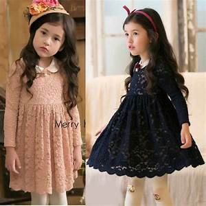 flower girl princess lace dress toddler baby wedding party With robe bébé fille hiver