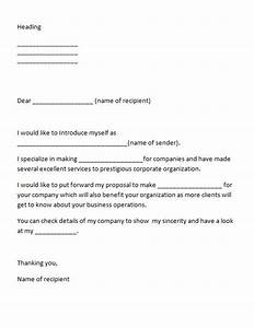 40 letter of introduction templates examples With do you introduce yourself in a cover letter
