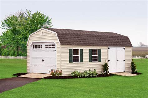 New Barn Garage by New Classic Vinyl Barn Style Single Car Garage