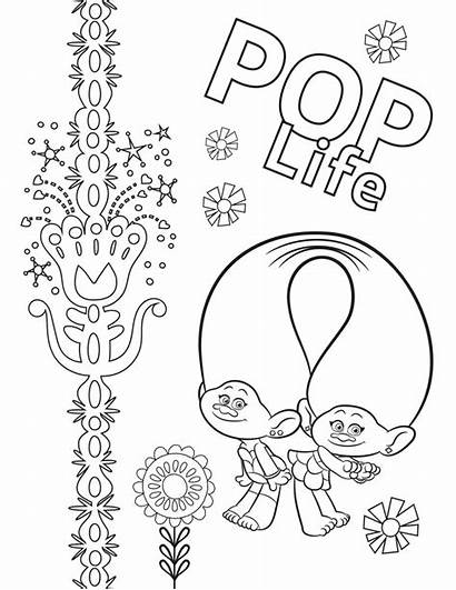 Trolls Coloring Tour Pages Pop Troll Printable