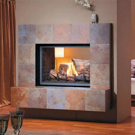 see through fireplace montigo h series see thru