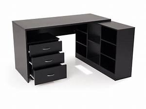 Meuble Bureau But : meuble de bureau noir meuble de rangement bureau lepolyglotte ~ Teatrodelosmanantiales.com Idées de Décoration