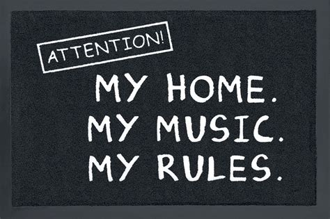 Attention! My Home. My Music. My Rules. Zerbino Acquista
