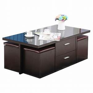 Table Basse Avec Pouf Pas Cher : table basse avec poufs ~ Teatrodelosmanantiales.com Idées de Décoration
