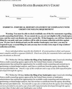 compliance statement template - download bankruptcy court for free formtemplate