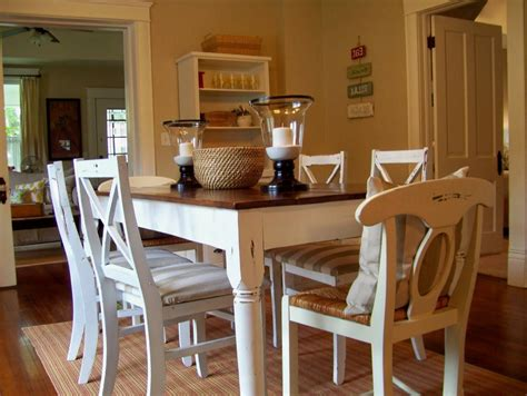 Dining Table Set White Wood