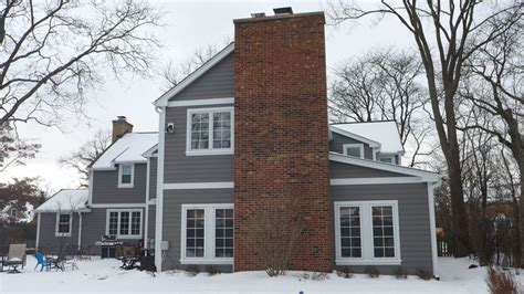 jams colors hardie siding in aged pewter with arctic white trim