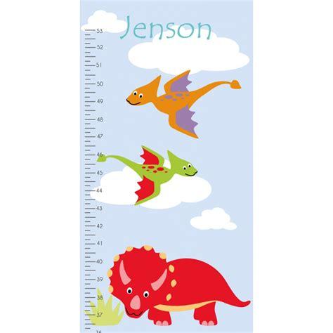 dinosaur growth chart decal