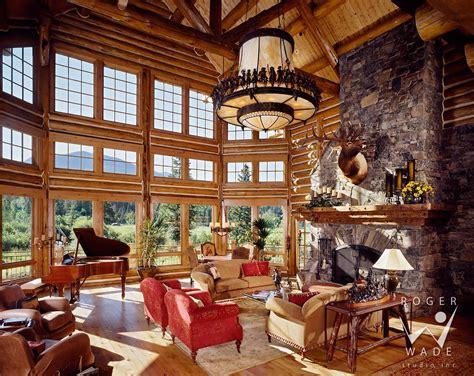 Interior Of Log Homes Benvenutiallangolo Luxury Cabin Interior Images