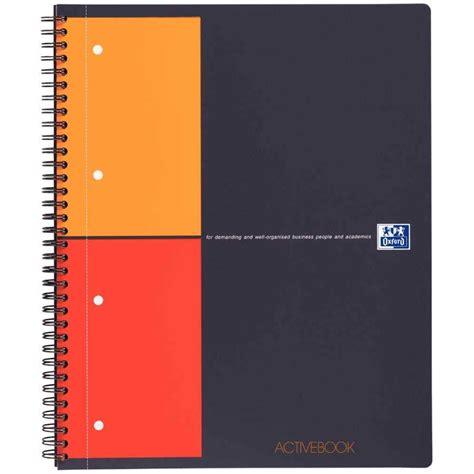 papeterie de bureau cahier activebook 23x29 7 petit carreaux 160p oxford