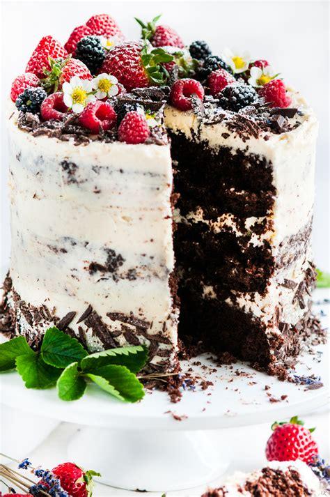 skyscraper chocolate cake  earl grey lavender cream