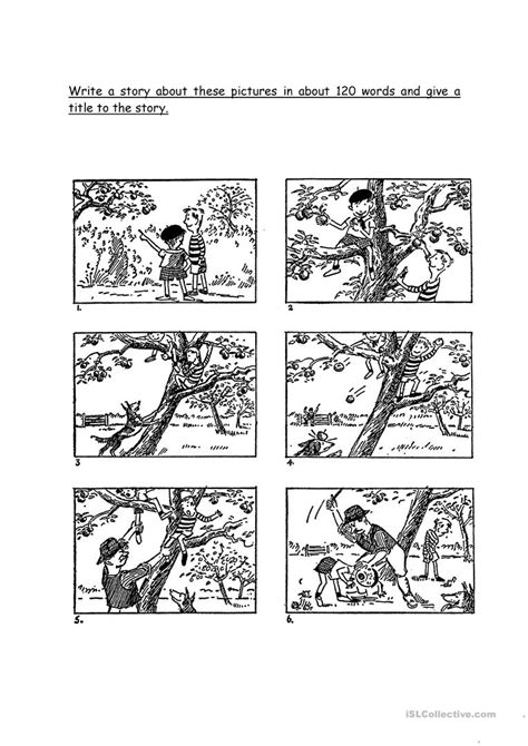 picture composition worksheet  esl printable