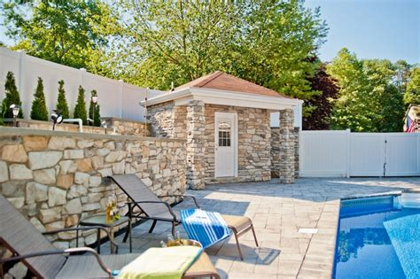 House With A by Pool House And Bathroom In New Jersey