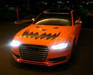 Orange Supercar Duo Goes Trick Or Treating With Halloween