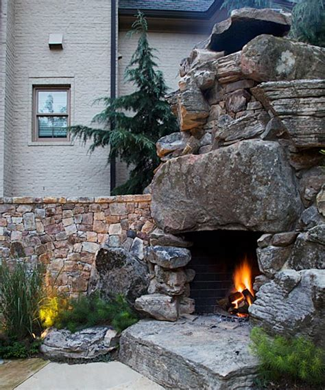 outdoor kitchen and fireplace designs fireplaces outdoor ontario custom masonry 7229