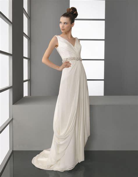 Draped Wedding Dresses - 2012 wedding dress aire barcelona bridal gowns v neck draped