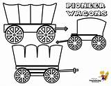 Coloring Wagon Covered Trail Oregon Wagons Frontier Template Usa 4th July Yescoloring America Rugged Boys sketch template