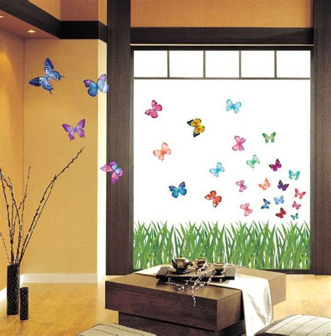 Grass Butterfly Wall Stickers For Kids Rooms