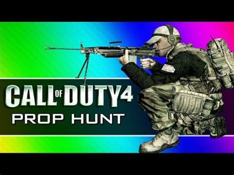 Call Of Duty 4 Prop Hunt Funny Moments  First Blood