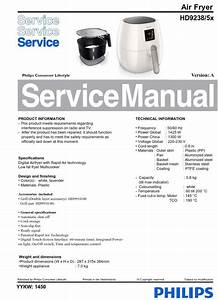 Philips Airfryer Hd9238  5x Series  Service Manual Free