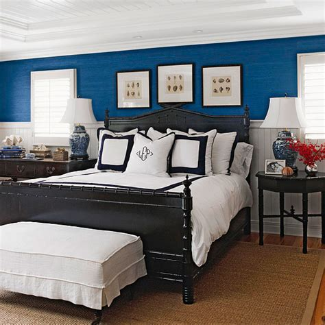 black and blue bedrooms blue room with white trim and black bed pinpoint