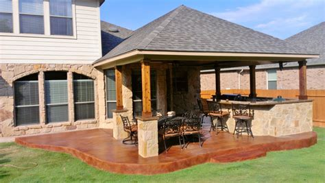 sted concrete covered patio perfection archadeck