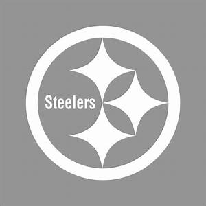 Pittsburgh Steelers NFL Team Logo 1 Color Vinyl Decal