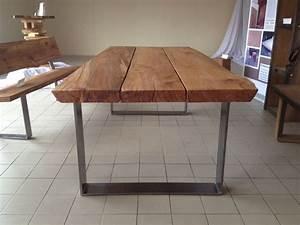 Esstisch Grau Holz : kernbuche massivholz esstisch mit stahlgestell von c oldenburg m bel auf tische ~ Frokenaadalensverden.com Haus und Dekorationen
