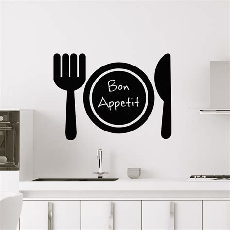 cuisine ardoise design sticker ardoise design couverts de table stickers